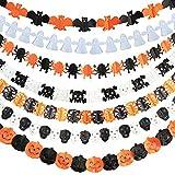 ハロウィン 飾り 付け 装飾 ガーランド ペーパー オーナメント かぼちゃ お化け パーティー (7種セット)