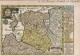 1740World Atlas | Vol 2: 141- Die hertzogthumer Curland und Liefland |アンティークヴィンテージマップ再印刷 24in x 17in 581492_2417
