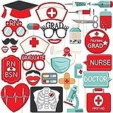 ナース卒業写真ブース用小道具 - 医師 看護師 パーティー用品 - DIY不要 大型 32個