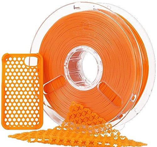 3Dプリンター用フレキシブルフィラメント PolyFlex 1.75mm オレンジ
