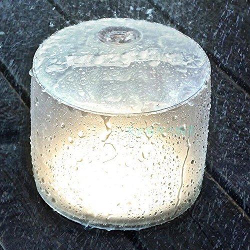 LEDNut アウトドア インフレータブルLEDソーラーランタン 充電残量表示付 防水