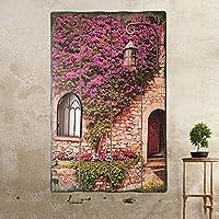 ウォールデコ 牧歌的なスタイルレトロウッドペインティングクリエイティブ偽ウィンドウの壁の装飾居間の壁の壁のバーの壁の装飾 (色 : A)