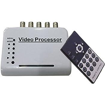 Camecho 4画面分割器 マルチ画面分割器 4CH 1モニターを4分割画面表示 自動切り替え表示 DVR/ CCTV/防犯モニター対応