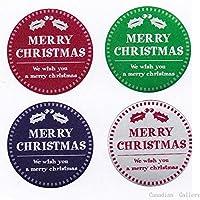 クリスマスシール4色セット サイズ:直径30mm ch