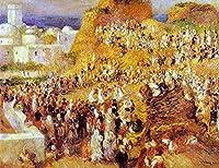 ¥5K-200k 手書き-キャンバスの油絵 - 美術大学の先生直筆 - 10 名画 - casbah Renoir ピエール=オーギュスト・ルノワール 街 シティ 都会風景 - 絵画 洋画 手描複製画 -05