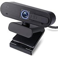 エレコム WEBカメラ UCAM-C820ABBK フルHD 1080p 30FPS 200万画素 オートフォーカス マ…