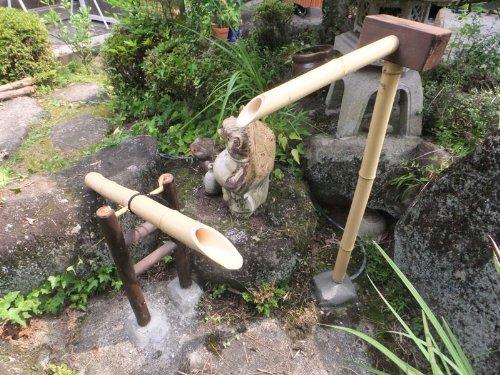 【職人手作り】天然国産竹筧(並)長さ600mm×高さ1100mm