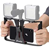 Zeadio Smartphone Video Rig, Phone Movies Mount Handle Grip Stabilizer, Filmmaking Recording Rig Case for Video Maker Filmmak