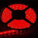 FAVOLCANO LED Strip Light, Red, IP65 Waterproof, 12V DC, SMD 3528, 300 LEDs, 60Leds/M, 16.4 ft/5M LED Rope Light for Hallowee