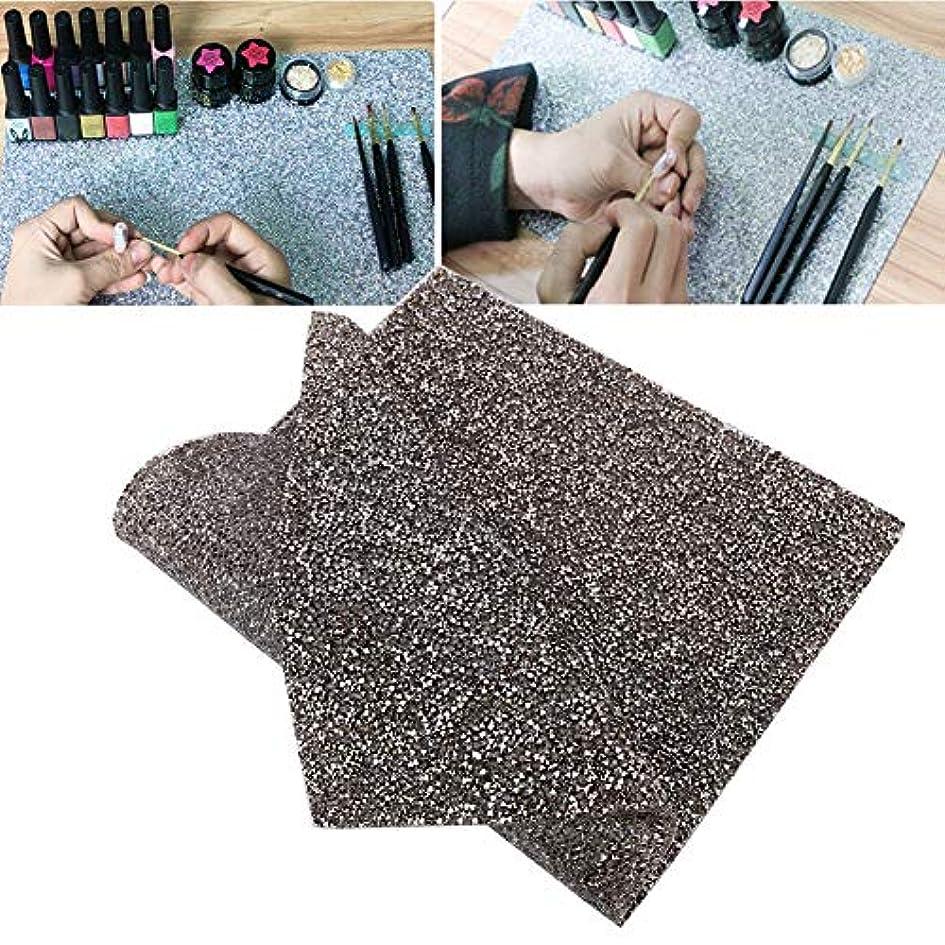 ペインギリック専ら横Rotektマニキュアマット再利用可能テーブルパッド付きネイルアート美容アクセサリー2色(02)