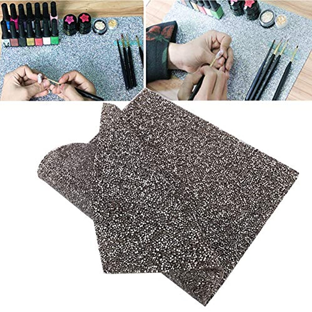 Rotektマニキュアマット再利用可能テーブルパッド付きネイルアート美容アクセサリー2色(02)