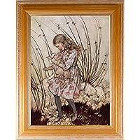 BiblioArt Series アーサー・ラッカム 「不思議の国のアリス<ブタの赤ちゃん>」額装品