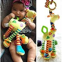 baynne幼児赤ちゃん開発ソフトキリン動物Handbells Rattlesハンドルおもちゃ