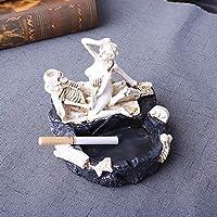 携帯灰皿 灰皿 おしゃれ 卓上 (樹脂 3D骸骨)
