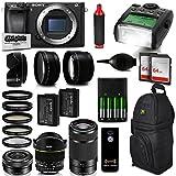 Sony Alpha a6300ミラーレスブラックデジタルカメラ+ 128GB +ズームレンズバンドルキット