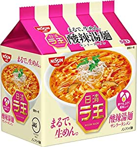 日清 ラ王 酸辣湯麺 5食パック 465g×6個