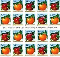 Apple & Orange Pane of Twenty 34 Cent Stamps Scott 3491-92 [並行輸入品]