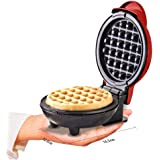 St. Lun The Mini Waffle Maker Machine, Electric Round Griddle for Individual Pancakes, Cookies, Eggs & other on the go Breakf