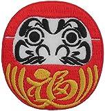 ヤナギプランニングスタジオ 刺繍ワッペン 【だるま】福赤縁 [アイロン接着フィルム付き] EMBROIDERY PATCH 日本製
