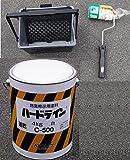 駐車場ライン引き用セット 3点セット(ペイント白 4kg缶+ローラー+バケット)