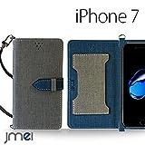 iPhone7 ケース JMEIオリジナルカルネケース VESTA グレー apple iPhone 7 アイフォン 7 アップル 4.7 スマホ カバー スマホケース 手帳型 ショルダー スリム スマートフォン