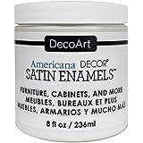 DecoArt Decoart Americana Decor Satin Enamels 8oz WarmWht, DECADSA-36.3, 1-(Pack)
