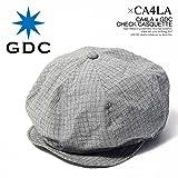 (カシラ×ジーディーシー)CA4LA×GDC CHECK CASQUETTE c36002 GRAY FREE