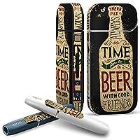 IQOS 専用 COMPLETE アイコス 専用スキンシール 全面セット サイド ボタン スマコレ チャージャー カバー ケース デコ ビール 飲み物 英語 011712