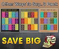 英語シノニムWordsポスター3パック。360人気英語単語with他Ways to Say Them、by学校Smarts。耐久性材質Rolled、シールドでのプラスチックポスタースリーブを保護。割引ページのは、特別提供、セクションに。