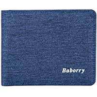 LDUNDUN-BAG, 2019 New Men's RFID Anti-Magnetic Anti-Radio Frequency Identification Coin Pocket Wallet Card Package Short Wallet (Color : Blue, Size : S)