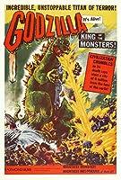 ゴジラ、King of the Monsters (ムービーポスター27x 40インチ–69cm x 102cm ) ( 1956年) (スタイルB )