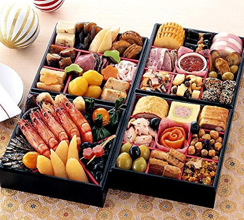 する必要がある形成インサート京菜味のむら 和洋おせち「千都」四段重 41品(12月30日着)