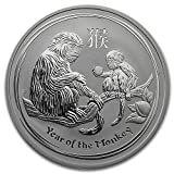 2016年 オーストラリア ・干支・猿年・モンキー・1オンス 銀貨 31.1g シルバー コイン 純銀 高級アクリルカプセル・クリアーケース付き