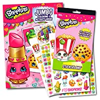 Shopkins Colouring Activity Book With Stickers Set Bundle with Separately Licenced Specialty GWW Reward Stickers