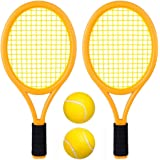Kids Tennis Racket Set with Ball,Plastic Tennis Racquet Toys for Toddler or Child (Age 3-5) Outdoor Sports,Packaging with Sho