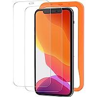 NIMASO ガラスフィルム iPhone 11 iPhone XR 用 強化 ガラス 保護 フィルム 2枚セット ガイ…