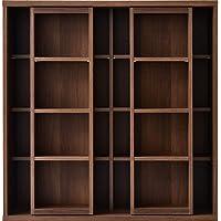 ワイエムワールド 本棚 ダブルスライド式 奥深 スライド書棚 コミックラック WN