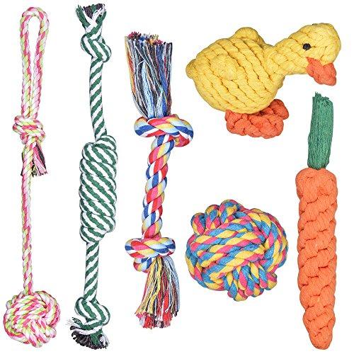 犬おもちゃ 噛むおもちゃ Fohil 犬噛むおもちゃ 6個セット ストレス発散 ムズムズ解消 清潔 ...