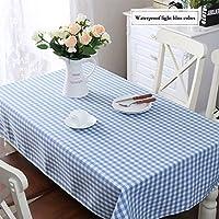 テーブルクロス シンプルな牧歌的な防水の格子縞のテーブルクロス長方形のコーヒーテーブルラウンドテーブルクロス (Color : C, Size : 140x220cm)