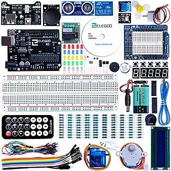 ELEGOO Arduino用UNO R3スターターキット レベルアップ チュートリアル付 mega2560 r3 nanoと互換