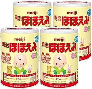 【Amazon.co.jp 限定】明治ほほえみ 800g×4缶パック (景品付き)