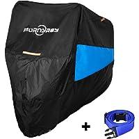 バイクカバー 高品質300Dオックス生地 UVカット 耐熱 防水 防塵 防雪 収納袋付きオートバイカバー 車体カバー (245*105*125cm)