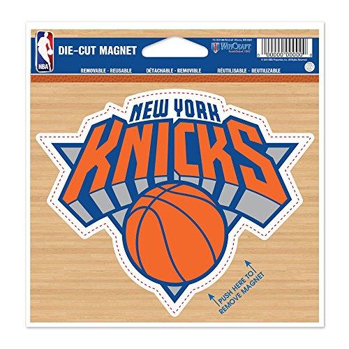 新しいYork Knicks公式NBA 4.5インチx 6インチカーマグネットでWinCraft