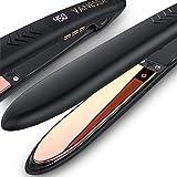 VANESSA Flat Iron Hair Straightener and Curler, Titanium Hair Straightener Flat Iron, Titanium Flat Iron Dual Voltage, Mother
