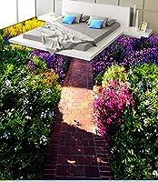 C484 巨大 3D フロアマット 2m*2m* 自然 葉っぱ 石 芝生 花 木 空 風景 景色 防音 断熱 滑り止めシート 床 壁 天井 はがせるシール