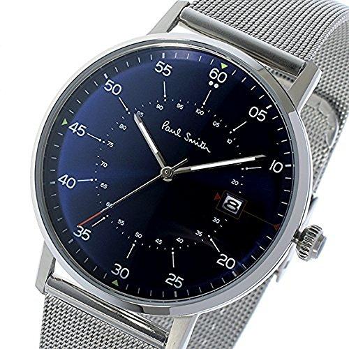 Paul Smith ポールスミス P10078 GAUGE ゲージ mesh band シルバーメッシュバンド 腕時計 アナログ 41mm カラーBlue/ネイビーブルー他 [並行輸入品]