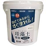 フジワラ化学 水系仕上塗材 珪藻土壁材MIX ホワイト 10kg
