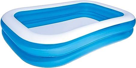 FIELDOOR ジャイアントファミリープール 全長2.0mタイプ 【ブルー】 ビニールプール 家庭用プール ジャンボプール 大型