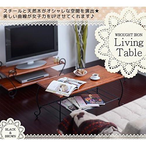 アイアンシリーズ テーブル IRI-0003-BK ブラック