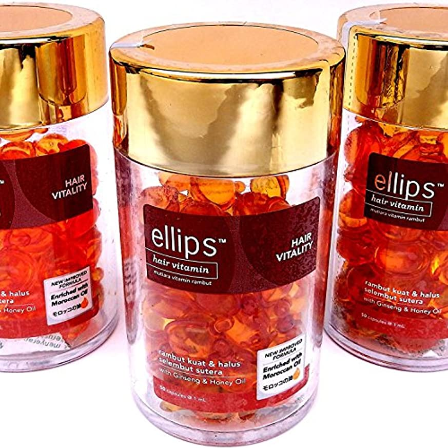 で出来ているサロン名声エリプス(Ellips) ヘアビタミン ブラウン ボトル(50粒入)× 3 個セット[並行輸入品]